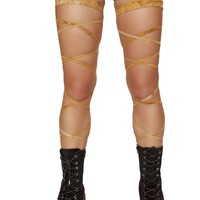 "100"" Suede Leg Strap with Attached Garter"