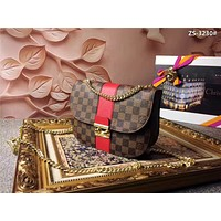 LV Louis Vuitton WOMEN'S DAMIER CANVAS CHAIN SHOULDER BAG