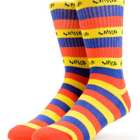 Odd Future Golf Wang Blue, Red & Yellow Crew Socks at Zumiez : PDP
