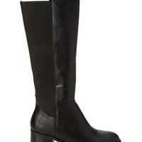 Faux Leather Riding Boots