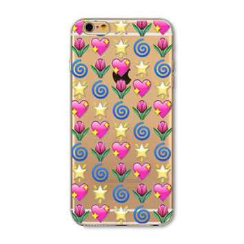 Facebook Emoji Collage Painted Soft TPU Silicon Cases CoverCase For Apple iPhone 4 4S 5 5S SE 5C 6 6S 6 Plus 6S Plus
