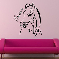 Pony Horse Decal Personalized Kids Decor Wall Decal Art Vinyl Sticker tr292