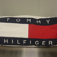 Vintage 90's Tommy Hilfiger Cotton Duffle Gym Bag Retro Style Great Vintage Condition