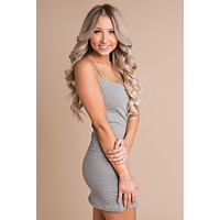 Glendale Basic Dress (Heather Grey)