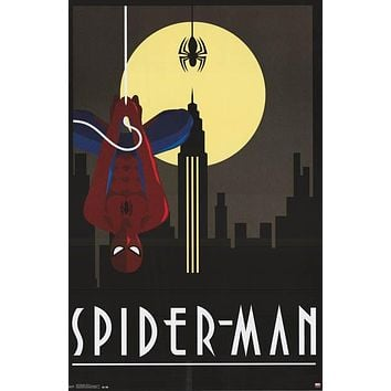 Spider-Man Art Deco Marvel Comics Poster 24x36