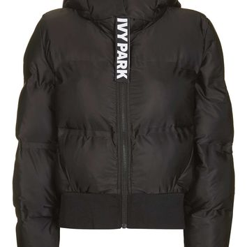 Cropped Hooded Puffer Jacket by Ivy Park | Topshop