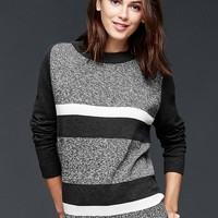 Gap Women Marled Stripe Front Pullover Sweater