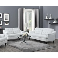 Freeport 2-Piece Tufted Back Living Room Set Snow White By Coaster