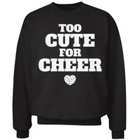 Too Cute Funny Volleyball Girl Sweater