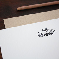 Flowered Hello Notecards : Set of 12 // $14 each
