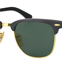 Cheap Authentic Ray Ban RB3507 Clubmaster 136/N5 Black And Arista Gold Sunglasses 49mm outlet