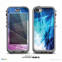 The Vibrant Blue and Pink HD Shards Skin for the iPhone 5c nüüd LifeProof Case