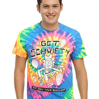 Rick And Morty Get Schwifty Tie Dye T-Shirt