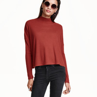 Ribbed Mock Turtleneck Top - from H&M