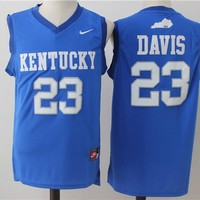 Best Sale Online NCAA University Basketball Jersey Kentucky Wildcats # 23 Anthony Davis