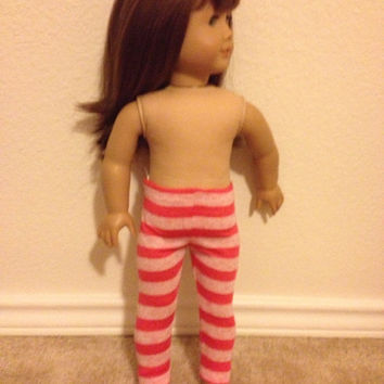 Pink Striped Leggings: fits most 18 inch dolls