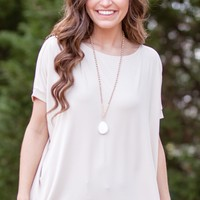 Short Sleeve Piko in Sand
