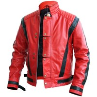 Michael Jackson Red Leather Jacket