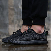 """""""Adidas"""" Women Yeezy Boost Sneakers Running Sports Shoes Full Red"""