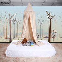 Mosquito Net Tent Curtains Canopy Bed Valance Many Colors Kids Boys Girls Princess  Kids Room Decoration Baby Bed Round Netting