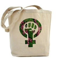 CafePress Earth Feminist Symbol Tote Bag - Standard Multi-color