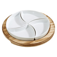 Creative Gifts International 5 Piece Round Server Set
