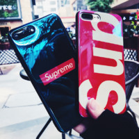 Superme print phone shell phone case for Iphone 6/6s/6p/7p/7/8/8p/X