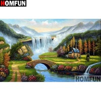5D Diamond Painting Waterfall and Mountains Kit