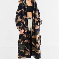 UO Camo Wool Cocoon Coat   Urban Outfitters