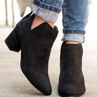 Adele Block Heel Booties | Black