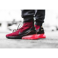 Nike Air Footscape Magista Flyknit 270 ¡°Wine Red¡± Socks Running Shoes AA6560-600