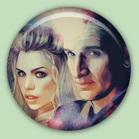 Doctor Who 9th Doctor 1 inch pinback button.