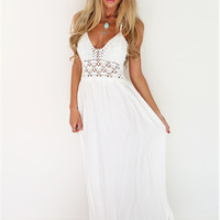 Crochet White Maxi Dress | The Handmade Hustle