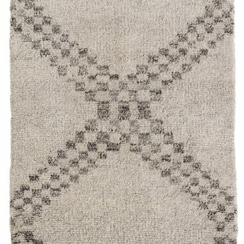 ZILLAH GREY HAND KNOTTED WOOL RUG