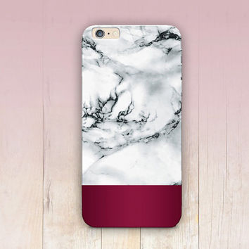 Burgundy Marble Phone Case  iPhone 6 Case - iPhone 5 Case - iPhone 4 Case - Samsung S4 Case - iPhone 5C - Tough Case - Matte Case - Samsung