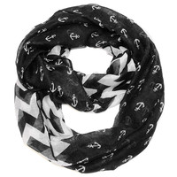 Anchor Chevron Infinity- Black