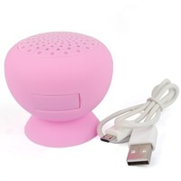 Cooligg Waterproof Mini Bluetooth Ball Speaker Mic/Call W/ Sucker Pink