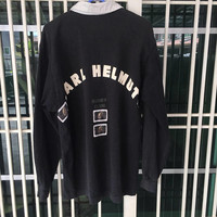 Vintage Karl Helmut Rugby Club Polo Shirt  Long Sleeve