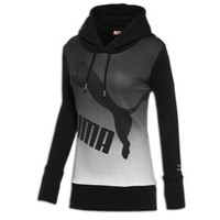 PUMA Women's Gradient Hoodie, Black, Medium