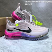 KUYOU N816 Serena Williams Off White Nike Air Max 97 Running Shoes Grey Red Purple