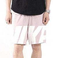 NIKE Summer Men Women Print Sports Running Shorts Pink