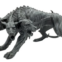 Cerberus Three Headed Dog Beast Greek Mythology Statue 8L