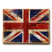 Union Jack by Artist Cory Steffen Wood Sign