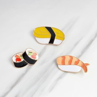2018 Fashion Creative Sushi Lunch box Enamel Pin Brooch Pins For Women Girl Bags Scarf Backpack Badges Jewelry