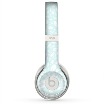 The Light Teal Blue & White Floral Sprout Skin for the Beats by Dre Solo 2 Headphones