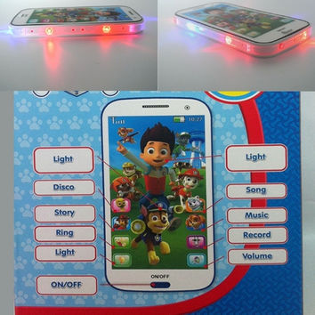 Paw patrol style Kid Toy  phone Educational English Language learning machine toy mobile phone multi story  baby phone with Colorful light = 1945875908