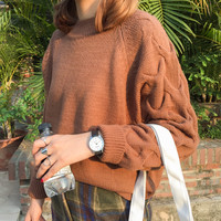 2016 Hot New Autumn Winter Women Fashion Cotton Elastic Sweater Lady Knitted Long Sleeve O-neck Twist Pullovers Kawaii AW386