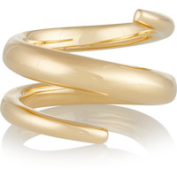 Jennifer Fisher - Twisted Cylinder gold-plated ring