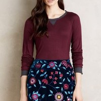 Chiffon-Trimmed Tee by Anthropologie