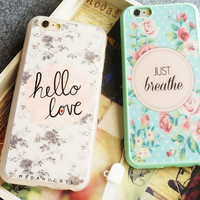 Fashion woman floral pattern mobile phone Case for iphone 5 5s SE 6 6S 6plus 6s plus